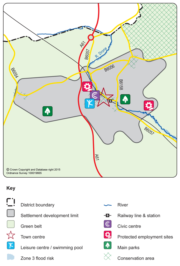 Dronfield Town map