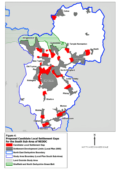 Proposed Candidate Local Settlement Gaps for the South Sub-Area of NEDDC